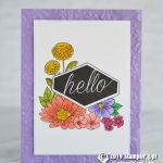 CARD: Hello card from the Accented Blooms Stamps