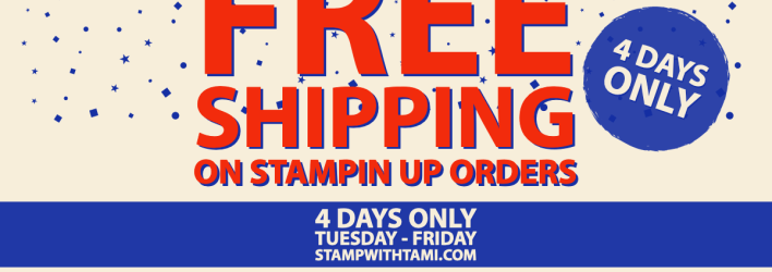 FLASH SALE: Free Shipping 4 days only – Tuesday – Friday