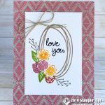 CARD: Love You Card from the Sweetly Swirled Stamp Set