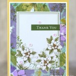 CARD: Beautiful Thank You Card from Magnolia Lane Memories and Stampin Blends