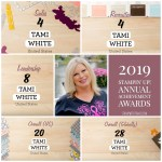 Stampin Up 2019 Awards – Thank You!