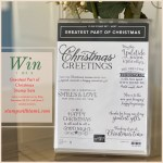 Win 1 of 3 Greatest Part of Christmas Host Stamp Sets