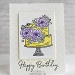 CARD: Happy birthday to you cake card from Sale-a-bration 2020