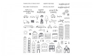 In the city hostess stamps