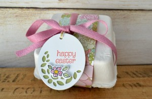 Stampin Up Circle of Spring Egg Carton
