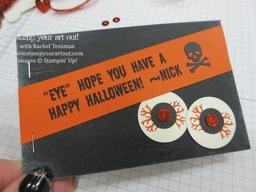 Halloween Treats for School using the September 2014 Boo-tiful Bags My Paper Pumpkin Kit… stampyourartout #stampinup - Stampin' Up!® - Stamp Your Art Out! www.stampyourartout.com