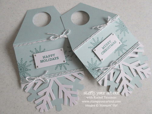 November 2014 Simply Snowflake Paper Pumpkin wine bottle tag…  #stampyourartout #stampinup - Stampin' Up! - Stamp Your Art Out! www.stampyourartout.com