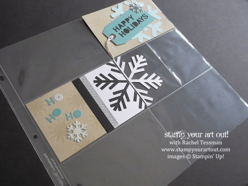 November 2014 Simply Snowflake Paper Pumpkin Project Life page pieces…  #stampyourartout #stampinup - Stampin' Up! - Stamp Your Art Out! www.stampyourartout.com