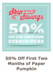 Here's a wonderful deal for first-time* Paper Pumpkin subscribers! If you have been wanting to give Paper Pumpkin a try, you can now get your first two months for 50% off! Paper Pumpkin is on sale through September 10th, 2015!… #stampyourartout #stampinup - Stampin' Up!® - Stamp Your Art Out! www.stampyourartout.com