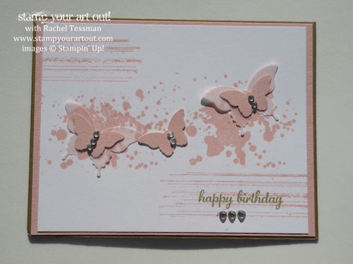 Butterfly birthday card by Tami Woolley featuring the Gorgeous Grunge stamp set… #stampyourartout #stampinup -  Stampin' Up!® - Stamp Your Art Out! www.stampyourartout.com