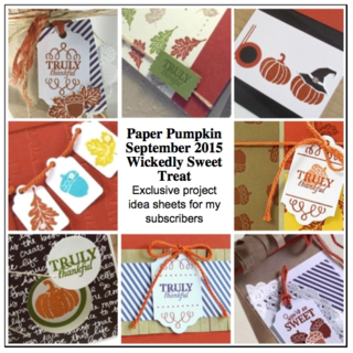 Sneak Peek at the September 2015 Wickedly Sweet Treat Paper Pumpkin kit exclusive alternate projects… #stampyourartout #stampinup - Stampin' Up!® - Stamp Your Art Out! www.stampyourartout.com
