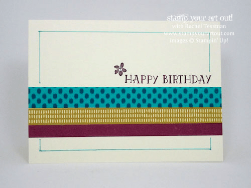 Easy washi tape cards (Bohemian Designer Washi Tape)… #stampyourartout #stampinup - Stampin' Up!® - Stamp Your Art Out! www.stampyourartout.com