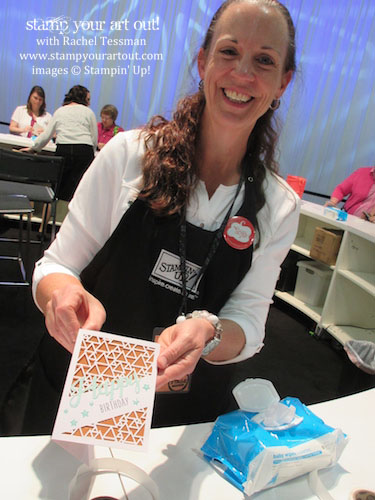 Having fun creating the May 2016 Paper Pumpkin make-n-take at OnStage Live 2016! #onstage2016… #stampyourartout #stampinup - Stampin' Up!® - Stamp Your Art Out! www.stampyourartout.com