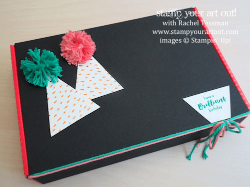 Birthday Gift Box - Click here to see lots of project ideas created with the July 2016 What A Gem Paper Pumpkin kit… #stampyourartout - Stampin' Up!® - Stamp Your Art Out! www.stampyourartout.com
