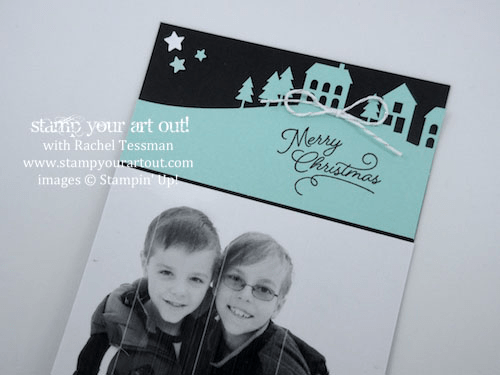 Photo cards with the Wonderful Winterland November 2016 Paper Pumpkin kit (make 24 per kit!)… #stampyourartout - Stampin' Up!® - Stamp Your Art Out! www.stampyourartout.com