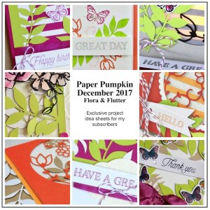 Sneak Peek at the December 2017 Flora and Flutter Paper Pumpkin Kit exclusive alternate projects ...#stampyourartout #stampinup - Stampin' Up!® - Stamp Your Art Out! www.stampyourartout.com