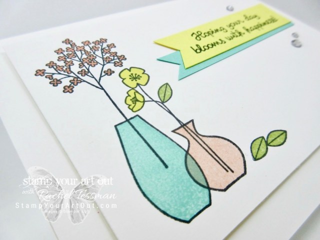 Birthday card stamped with the Varied Vases stamp set that will be available soon in the 2018-19 Catalog. Click here for more information…#stampyourartout - Stampin' Up!® - Stamp Your Art Out! www.stampyourartout.com