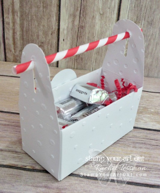 An altered Mini Gable Box can become a tool box or a fun & festive treat box for a special occasion (4th of July, Christmas, Valentine's Day, etc)…#stampyourartout #stampinup - Stampin' Up!® - Stamp Your Art Out! www.stampyourartout.com