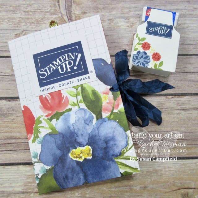 Gifts from my upline for the attending the April 2018 OnStage – click here for a link to her blog where she shares how she made this accordion folder and Tic Tac treat holder…#stampyourartout #stampinup - Stampin' Up!® - Stamp Your Art Out! www.stampyourartout.com