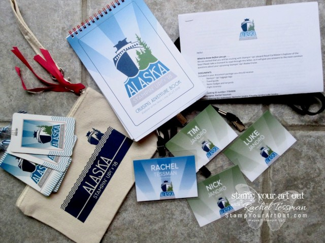 Our travel documents from Stampin' Up! for our 2018 Alaskan Cruise Incentive Trip!!…#stampyourartout #stampinup - Stampin' Up!® - Stamp Your Art Out! www.stampyourartout.com