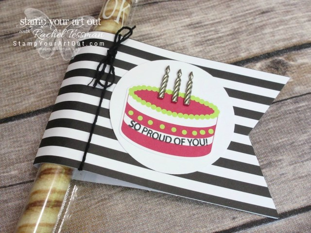 Click here to watch a how-to video and see fun alternate project ideas I created with the June 2018 Broadway Star Paper Pumpkin kit: a cake topper, a cookie straw gift, a 12x12 scrapbook page layout, a pocket photo page layout, a simple card, and a z-fold card.…#stampyourartout #stampinup - Stampin' Up!® - Stamp Your Art Out! www.stampyourartout.com