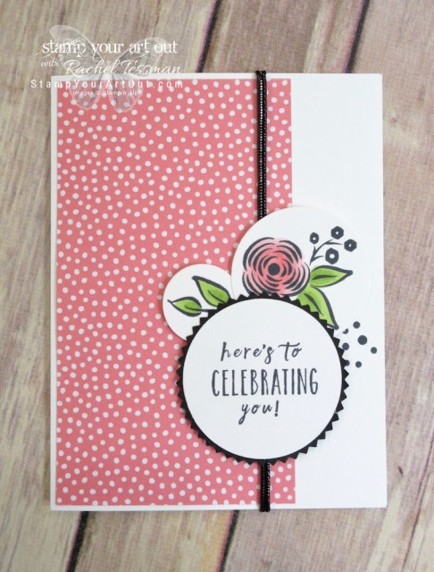 """The Brights Designer Paper paired with coordinating Stampin' Blends Markers are so fun with the Perennial Birthday stamp images on these fun """"Celebrating You"""" cards…#stampyourartout #stampinup - Stampin' Up!® - Stamp Your Art Out! www.stampyourartout.com"""