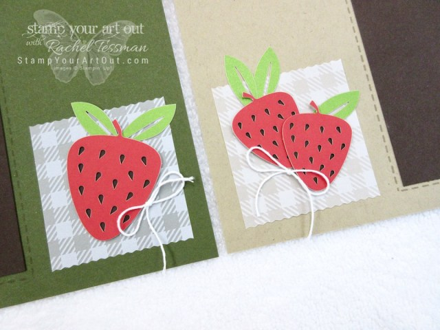 Click here to see fun alternate project ideas I created with the July 2018 Picnic Paradise Paper Pumpkin kit: some simple origami treat pouches, a 12x12 scrapbook page layout with a fun strawberry pie, and a fruit snack monster treat holder.…#stampyourartout #stampinup - Stampin' Up!® - Stamp Your Art Out! www.stampyourartout.com