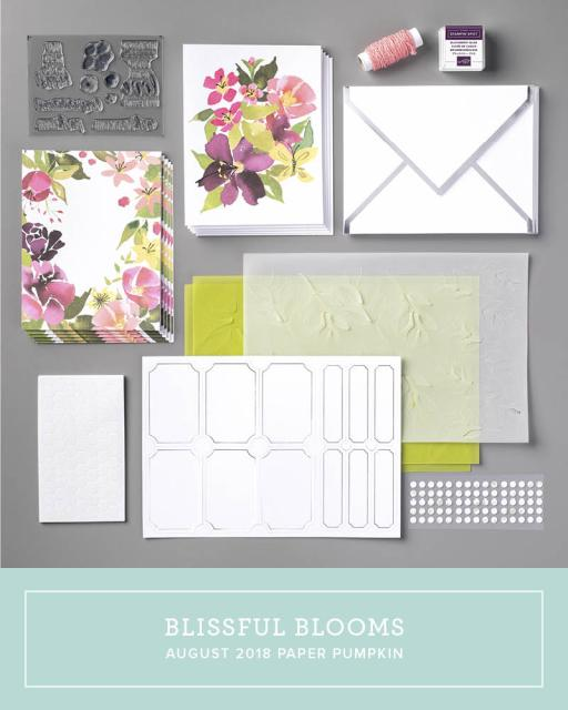 The August 2018 Paper Pumpkin Kit: Blissful Blooms! …#stampyourartout #stampinup - Stampin' Up!® - Stamp Your Art Out! www.stampyourartout.com