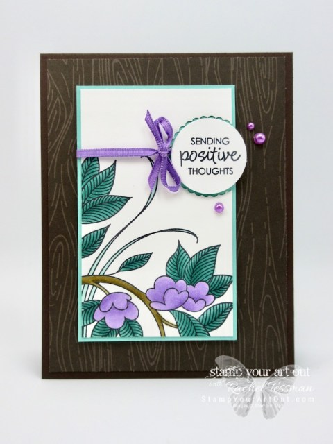 Click here for more information & to watch my video for using Stampin' Blends alcohol-based markers: Stampin' Blends 101 with Serene Garden. I shared three versions of this card and used the Serene Garden stamp set, and the limited time Happiness Surrounds (available November 2018) in each one – same layout, just different color combinations…#stampyourartout #stampinup - Stampin' Up!® - Stamp Your Art Out! www.stampyourartout.com