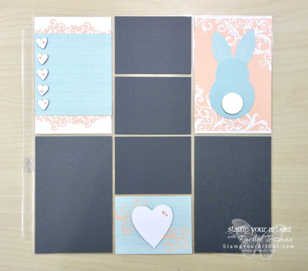 """Click here to see my cute bunny Memories & More photo pocket page, a sweet card that I'm sending to a few of my personal subscribers, AND several other alternate project ideas created with the January 2019 Be Mine Valentine Paper Pumpkin Kit shared in our blog hop: """"A Paper Pumpkin Thing""""! #stampyourartout #stampinup - Stampin' Up!® - Stamp Your Art Out! www.stampyourartout.com"""