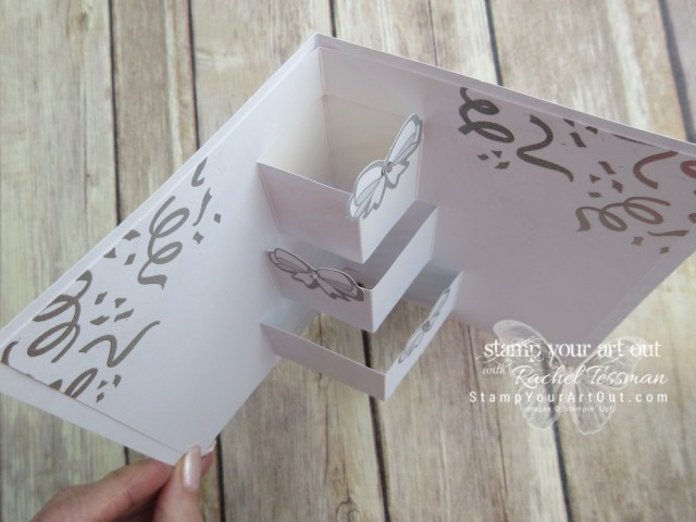 "Click here to see & get details about how to make this wedding card & matching gift tag AND see several other alternate project ideas created with the March 2019 Poppin' Birthday Paper Pumpkin Kit in our blog hop: ""A Paper Pumpkin Thing""! #onestopbox #stampyourartout #stampinup - Stampin' Up!® - Stamp Your Art Out! www.stampyourartout.com"