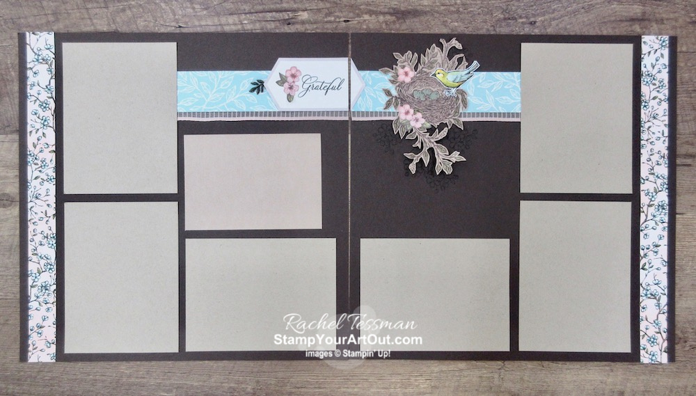 I'm excited to share with you what I created with the May 2019 Hugs From Shelli Paper Pumpkin Kit. I doubled the cards in the kit just by adding some Basic Adhesive-Backed Sequins and a pack of Very Vanilla Note Cards & Envelopes. And I made a 12x12 scrapbook page layout. Click here for photos of all these projects, a video where I share directions, measurements and tips for making them, and a complete product list linked to my online store! #onestopbox #stampyourartout #stampinup - Stampin' Up!® - Stamp Your Art Out! www.stampyourartout.com