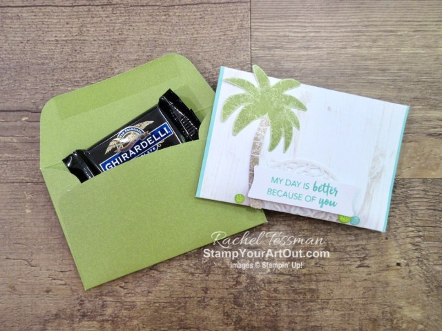 """Click here to see & get details about how to make beach party favors (tall triangle Hershey's Kiss holders and simple envelope treat holders) using the contents of the June 2019 A Little Smile Paper Pumpkin Kit. Plus you can see several other alternate project ideas created with this kit in our blog hop: """"A Paper Pumpkin Thing""""! #onestopbox #stampyourartout #stampinup - Stampin' Up!® - Stamp Your Art Out! www.stampyourartout.com"""