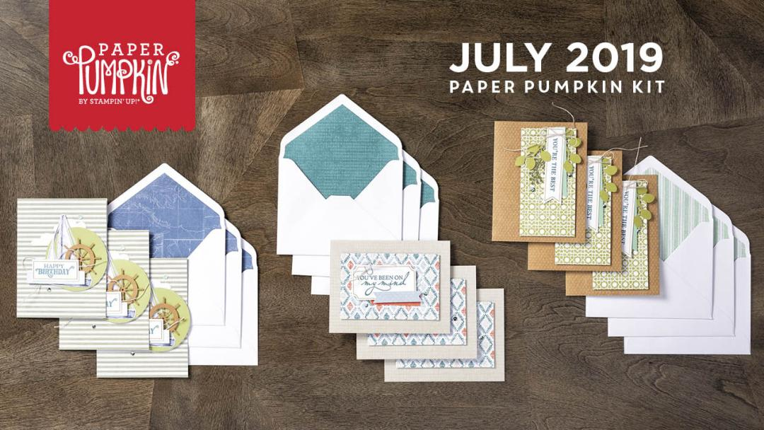 The July 2019 On My Mind Pumpkin kit. #onestopbox #stampyourartout #stampinup - Stampin' Up!® - Stamp Your Art Out! www.stampyourartout.com