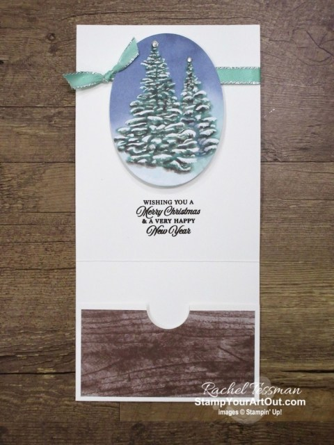 "Click here to see & get details for two Christmas cards I made with the October 2019 Winter Woods Paper Pumpkin Kit: a photo card and a pocket card. Plus you can see several other alternate project ideas created with this kit in our blog hop: ""A Paper Pumpkin Thing""! - Stampin' Up!® - Stamp Your Art Out! www.stampyourartout.com"