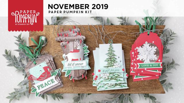 The November 2019 Winter Gifts Paper Pumpkin Kit. - Stampin' Up!® - Stamp Your Art Out! www.stampyourartout.com