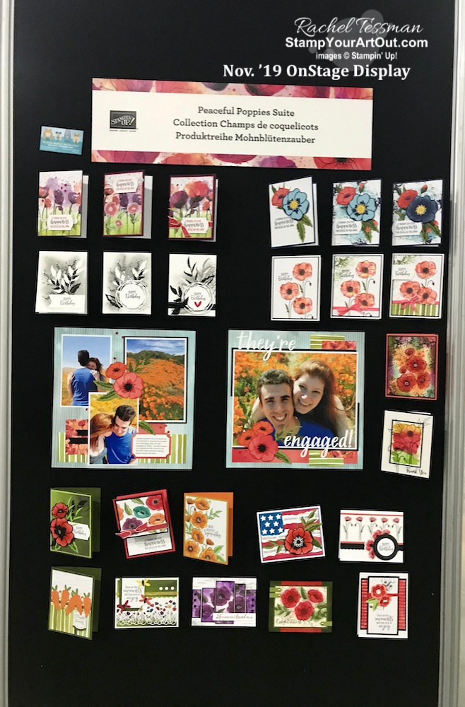 At Stampin' Up!'s November 2019 OnStage in Portland, Oregon! Click here to see more of the fun, more gifts, and display boards of swaps and projects featuring new products that will be available in the 2020 Spring Mini Catalog and Sale-a-Bration Brochure! - Stampin' Up!® - Stamp Your Art Out! www.stampyourartout.com