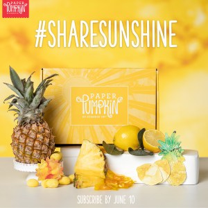 Sign up by June 10th to get the next exclusive Paper Pumpkin Kit! The upcoming June 2020 exclusive Sara-inspired kit is here to help you #sharesunshine. It includes supplies for eight handmade cards and is specially designed to help you create a box full of cheer. Once you've made all the cards, use any leftover pieces to decorate the box. Fill it with yellow goodies, add the included adhesive label, address it to someone special, and brighten their life with a little sunshine! - Stampin' Up!® - Stamp Your Art Out! www.stampyourartout.com
