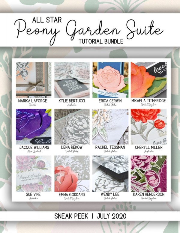Here are the Peony Garden All Star Tutorial Bundle Peeks. Place an order in the month of July 2020 and get this bundle of 12 fabulous paper crafting project tutorials for free! Or purchase it for just $15. - Stampin' Up!® - Stamp Your Art Out! www.stampyourartout.com