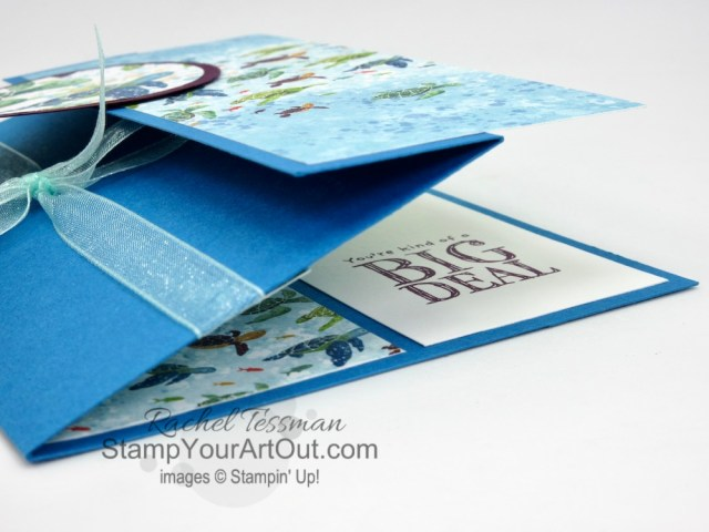 I designed a couple 3-Panel Scenery Z-Fold cards with the new Whale of a Time Suite of products! Click here to access measurements, more photos, a link for how to make another version of this fun fold, tips, and links to the products I used. - Stampin' Up!® - Stamp Your Art Out! www.stampyourartout.com