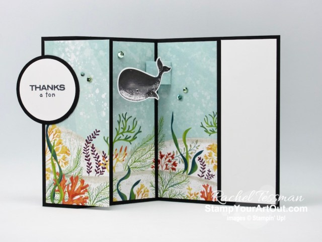 Here is another version of my Whale of a Time 3-Panel Scenery Z-Fold Card. Click here for links to two others I made and one that was shared by a team member. You'll also be able to access measurements, other photos, links to the products I used, and my how-to video for the step-by-step directions. - Stampin' Up!® - Stamp Your Art Out! www.stampyourartout.com