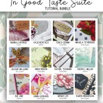 Here are the In Good Taste All Star Tutorial Bundle Peeks. Place an order in the month of August 2020 and get this bundle of 12 fabulous paper crafting project tutorials for free! Or purchase it for just $15. - Stampin' Up!® - Stamp Your Art Out! www.stampyourartout.com