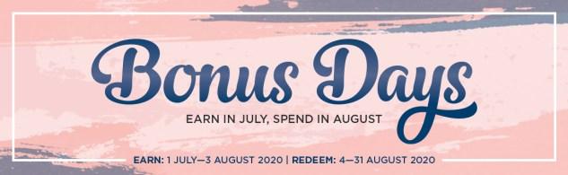 Bonus Days! Stampin' Up!® - Stamp Your Art Out! www.stampyourartout.com