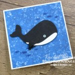This 3x3 gift card is super easy to make with the new Whale Builder Punch! Click here to access measurements, more photos, tips, and links to the products I used. - Stampin' Up!® - Stamp Your Art Out! www.stampyourartout.com