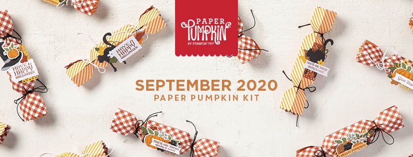 "The September 2020 ""Hello Pumpkin"" Paper Pumpkin Kit. - Stampin' Up!® - Stamp Your Art Out! www.stampyourartout.com"