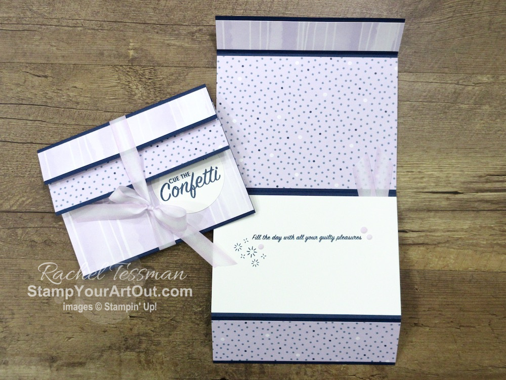 "Click here to see more ""flap fold"" cards I made with products from the Playing with Patterns Suite: Pattern Play Stamp Set, Playing with Patterns Designer Paper, and Playing with Patterns Ribbon Combo Pack. You'll be able to access measurements, directions, other close-up photos, and links to the products I used. - Stampin' Up!® - Stamp Your Art Out! www.stampyourartout.com"