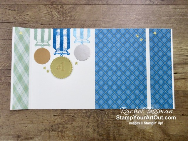 "I'm excited to show you a few more alternate project that I came up with using the contents of the August 2020 ""World's Greatest"" Paper Pumpkin kit. These five ideas (a flap fold card, two matchbook RAK notecards, another slider window card, and another pop-open cube card) were all featured in Stampin' Up's Paper Pumpkin Facebook Live on 9/1/20! Click here to access measurements, directions, more close-up photos, and links to the products I used. - Stampin' Up!® - Stamp Your Art Out! www.stampyourartout.com"
