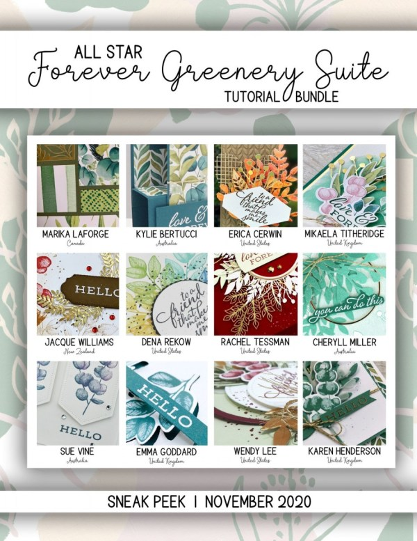 Here are the Forever Greenery All Star Tutorial Bundle Peeks. Place an order in the month of November 2020 and get this bundle of 12 fabulous paper crafting project tutorials for free! Or purchase it for just $15. - Stampin' Up!® - Stamp Your Art Out! www.stampyourartout.com