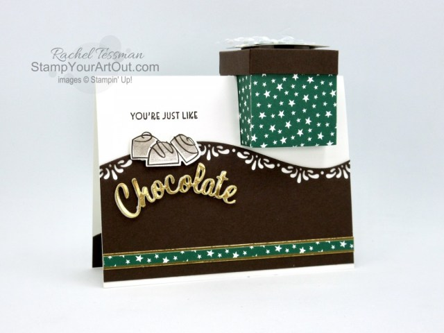 """Click here to see my November 2020 versions of the """"Gift Box In A Card"""" project. This 3-D project was something I shared on my blog a little over three years ago. But this time I made them with the Nothing's Better Than Stamp Set, Love You More Than Dies, Curvy Dies, Classic Christmas Designer Paper, and Brushed Metallic Cardstock. And… I've adjusted some measurements to make things fit better. You'll be able to access measurements, the how-to video, other close-up photos, and links to the products I used. - Stampin' Up!® - Stamp Your Art Out! www.stampyourartout.com"""