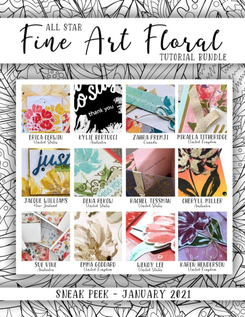 Here are the Fine Art Floral All Star Tutorial Bundle Peeks. Place an order in the month of January 2021 and get this bundle of 12 fabulous paper crafting project tutorials for free! Or purchase it for just $15. - Stampin' Up!® - Stamp Your Art Out! www.stampyourartout.com